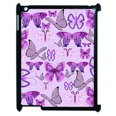 Purple Awareness Butterflies Apple Ipad 2 Case (black) by FunWithFibro