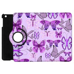 Purple Awareness Butterflies Apple Ipad Mini Flip 360 Case by FunWithFibro