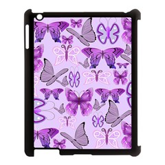Purple Awareness Butterflies Apple Ipad 3/4 Case (black) by FunWithFibro