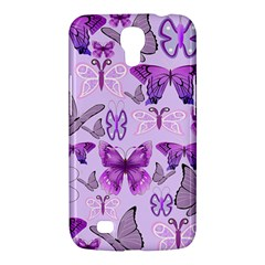 Purple Awareness Butterflies Samsung Galaxy Mega 6 3  I9200 Hardshell Case by FunWithFibro