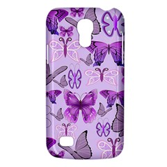 Purple Awareness Butterflies Samsung Galaxy S4 Mini (gt I9190) Hardshell Case  by FunWithFibro