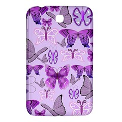 Purple Awareness Butterflies Samsung Galaxy Tab 3 (7 ) P3200 Hardshell Case  by FunWithFibro