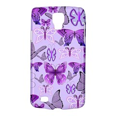 Purple Awareness Butterflies Samsung Galaxy S4 Active (i9295) Hardshell Case by FunWithFibro