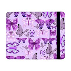 Purple Awareness Butterflies Samsung Galaxy Tab Pro 8 4  Flip Case by FunWithFibro