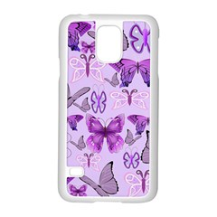 Purple Awareness Butterflies Samsung Galaxy S5 Case (white) by FunWithFibro