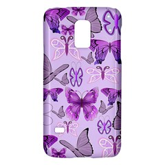 Purple Awareness Butterflies Samsung Galaxy S5 Mini Hardshell Case  by FunWithFibro
