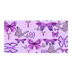 Purple Awareness Butterflies Satin Wrap by FunWithFibro