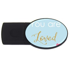 You Are Loved Usb Flash Drive Oval (2 Gb) by Kathrinlegg