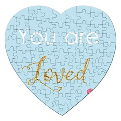 You Are Loved Jigsaw Puzzle (heart) by Kathrinlegg