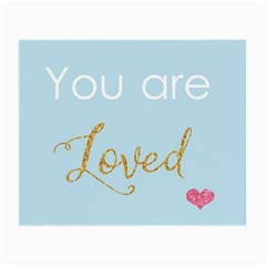 You Are Loved Glasses Cloth (small) by Kathrinlegg