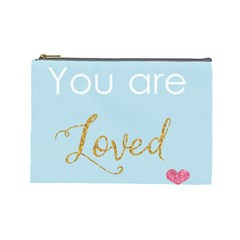 You Are Loved Cosmetic Bag (large) by Kathrinlegg
