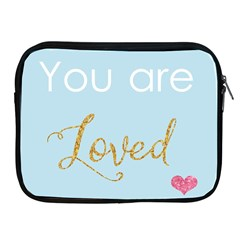 You Are Loved Apple Ipad 2/3/4 Zipper Case by Kathrinlegg