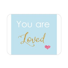 You Are Loved Double Sided Flano Blanket (mini) by Kathrinlegg