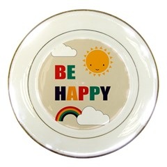Be Happy Porcelain Display Plate