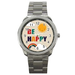 Be Happy Sport Metal Watch by Kathrinlegg
