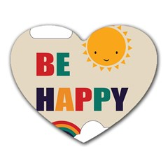 Be Happy Mouse Pad (heart)