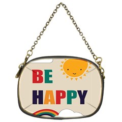 Be Happy Chain Purse (one Side) by Kathrinlegg