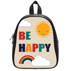 Be Happy School Bag (small) by Kathrinlegg