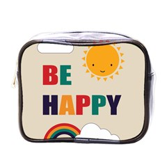 Be Happy Mini Travel Toiletry Bag (one Side) by Kathrinlegg