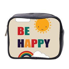 Be Happy Mini Travel Toiletry Bag (two Sides)