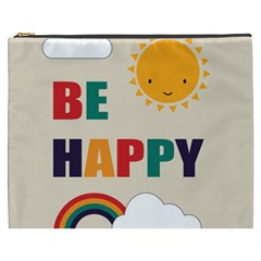 Be Happy Cosmetic Bag (xxxl) by Kathrinlegg