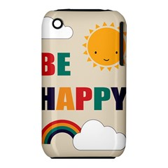 Be Happy Apple Iphone 3g/3gs Hardshell Case (pc+silicone) by Kathrinlegg