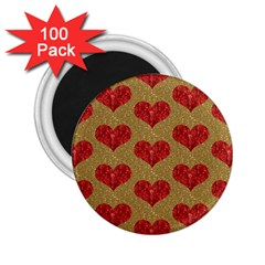 Sparkle Heart  2 25  Button Magnet (100 Pack) by Kathrinlegg