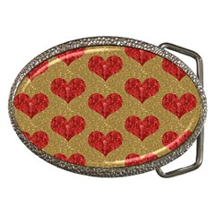 Sparkle Heart  Belt Buckle (oval) by Kathrinlegg