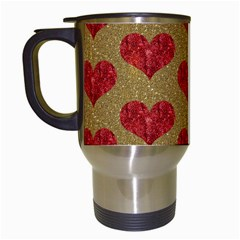 Sparkle Heart  Travel Mug (white) by Kathrinlegg