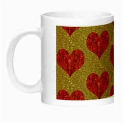 Sparkle Heart  Glow In The Dark Mug