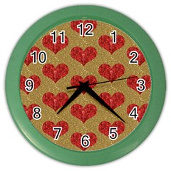 Sparkle Heart  Wall Clock (color) by Kathrinlegg