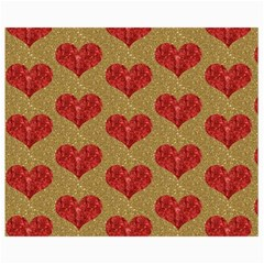 Sparkle Heart  Canvas 11  X 14  (unframed) by Kathrinlegg
