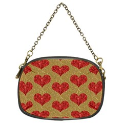 Sparkle Heart  Chain Purse (two Sided)