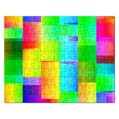 Colorful Gradient Shapes Jigsaw Puzzle (rectangular) by LalyLauraFLM
