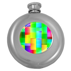 Colorful Gradient Shapes Hip Flask (5 Oz) by LalyLauraFLM