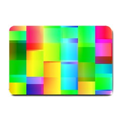 Colorful Gradient Shapes Small Doormat by LalyLauraFLM
