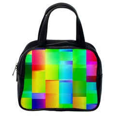 Colorful Gradient Shapes Classic Handbag (one Side) by LalyLauraFLM