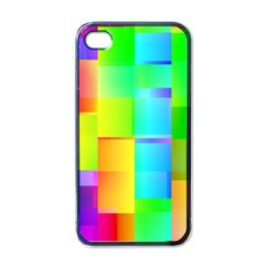 Colorful Gradient Shapes Apple Iphone 4 Case (black) by LalyLauraFLM