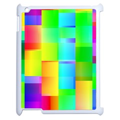Colorful Gradient Shapes Apple Ipad 2 Case (white) by LalyLauraFLM