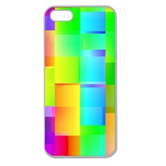 Colorful Gradient Shapes Apple Seamless Iphone 5 Case (clear) by LalyLauraFLM