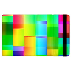 Colorful Gradient Shapes Apple Ipad 2 Flip Case by LalyLauraFLM