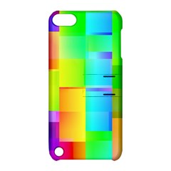 Colorful Gradient Shapes Apple Ipod Touch 5 Hardshell Case With Stand by LalyLauraFLM