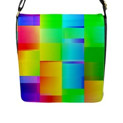 Colorful Gradient Shapes Flap Closure Messenger Bag (large) by LalyLauraFLM