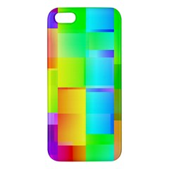 Colorful Gradient Shapes Iphone 5s Premium Hardshell Case by LalyLauraFLM