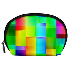 Colorful Gradient Shapes Accessory Pouch by LalyLauraFLM