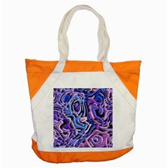 Metallic Weave Accent Tote Bag