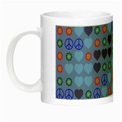 Peace And Love Night Luminous Mug by LalyLauraFLM