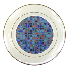Peace And Love Porcelain Plate