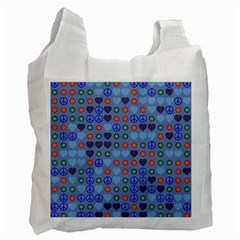 Peace And Love Recycle Bag (one Side) by LalyLauraFLM