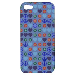 Peace And Love Apple Iphone 5 Hardshell Case by LalyLauraFLM